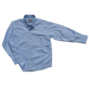 Camisa oxford celeste manga larga
